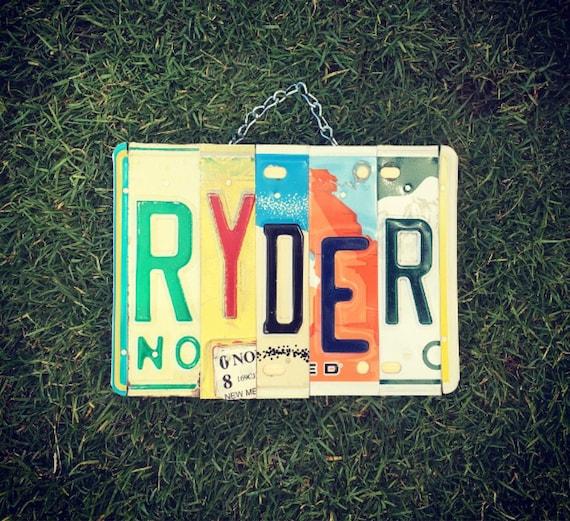 BOYS NURSERY. Boys Name. Ryder. Nursery Decor. Car Themed Decor. Boys birthday gift.