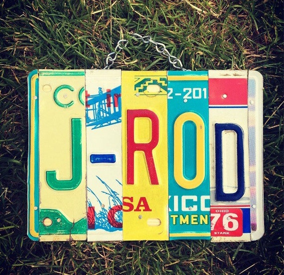 Gift for Him, Boys Personalized Gift, License Plate Sign, Custom Sign, Boys Name Sign, Gift for Men, Custom Name Gift.