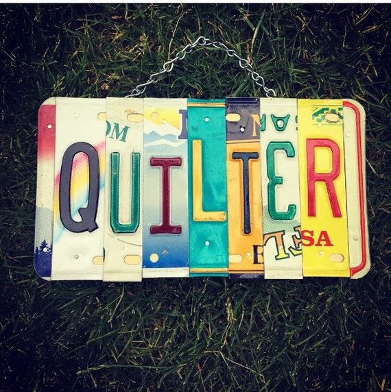 Quilter License Plate Art Sewing Room Sign, Quilting, Sewing Gifts, Quilter Gifts, Sewing, Quilting Pattern, Gift for Mom