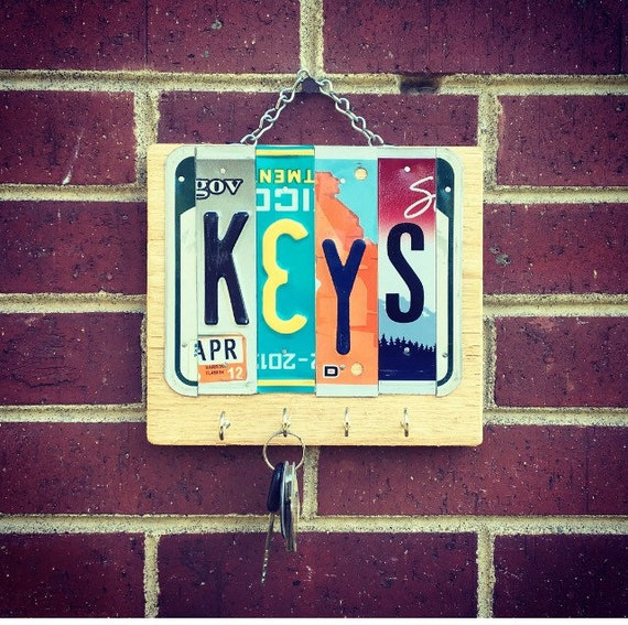 Moving Away Gift, Key Holder for Wall, Key Holder, Key Rack Organizer, Key Rack, Key Hook, Wood Key Holder, Recycled Key Holder, Moving Gift