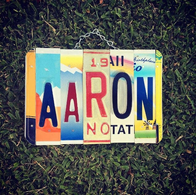 Boys Gift Personalized License Plate Sign