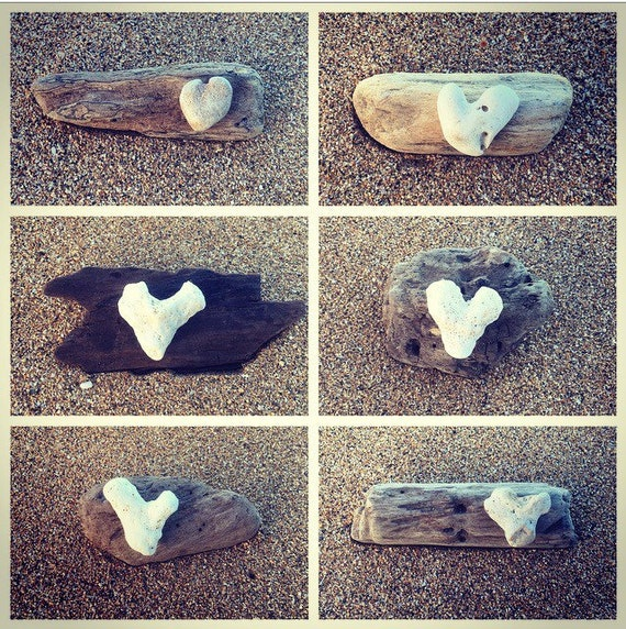 Made in Hawaii, Driftwood Art, Beach Decor, Driftwood Keepsake, Beach House  Gift, Heart Art
