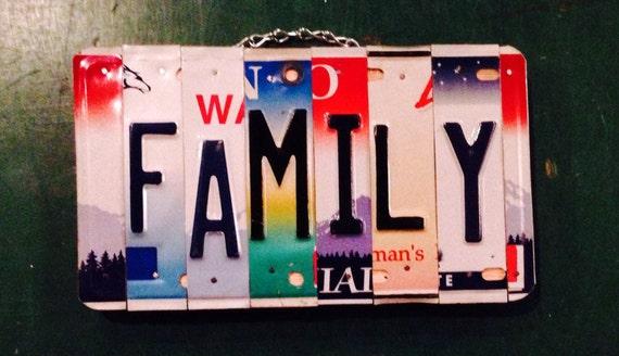 Family . Sign. Decor. Custom. Ohana. Love. Wood. Metal. Home. Licenseplate