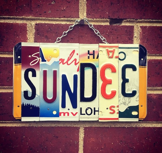 Unique Name Sign, Girls Name, Personalized Sign, License Plate Sign, Girls Birthday Gift, Name Sign