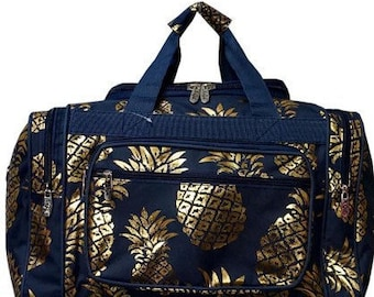 Pineapple Blue Metallic 20 inch Duffle Bag 85798e9f61d82