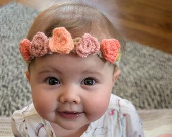 Rose Petal Flower Crown