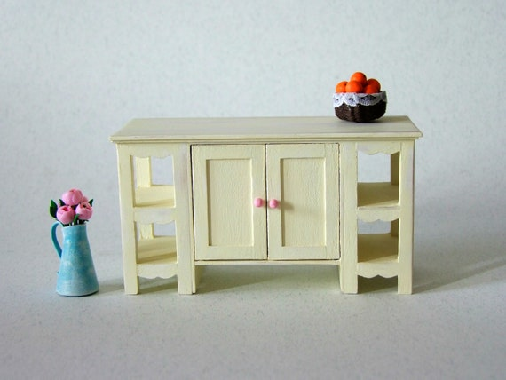Miniature Kitchen Counter Table 1 12 Scale Kitchen Island Etsy