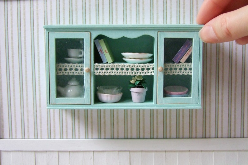 1:12 scale dollshouse miniature handmade checkout desk with well 3 to choose