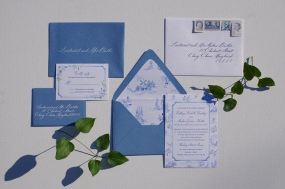 Custom Wedding Invitation Design Etsy