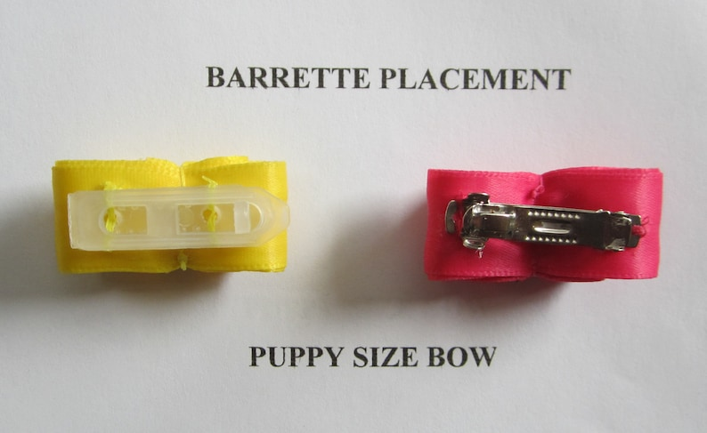 Yorkie Mid Size Topknot Bow for Show or Play Shih Tzu Maltese 78 Pure Illusion Dog  Bow Watermelon