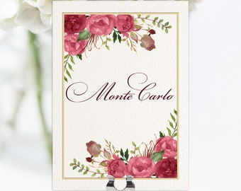 Ravello Table Names / Numbers | On the Day Stationery | Table Plan | Wedding Day |
