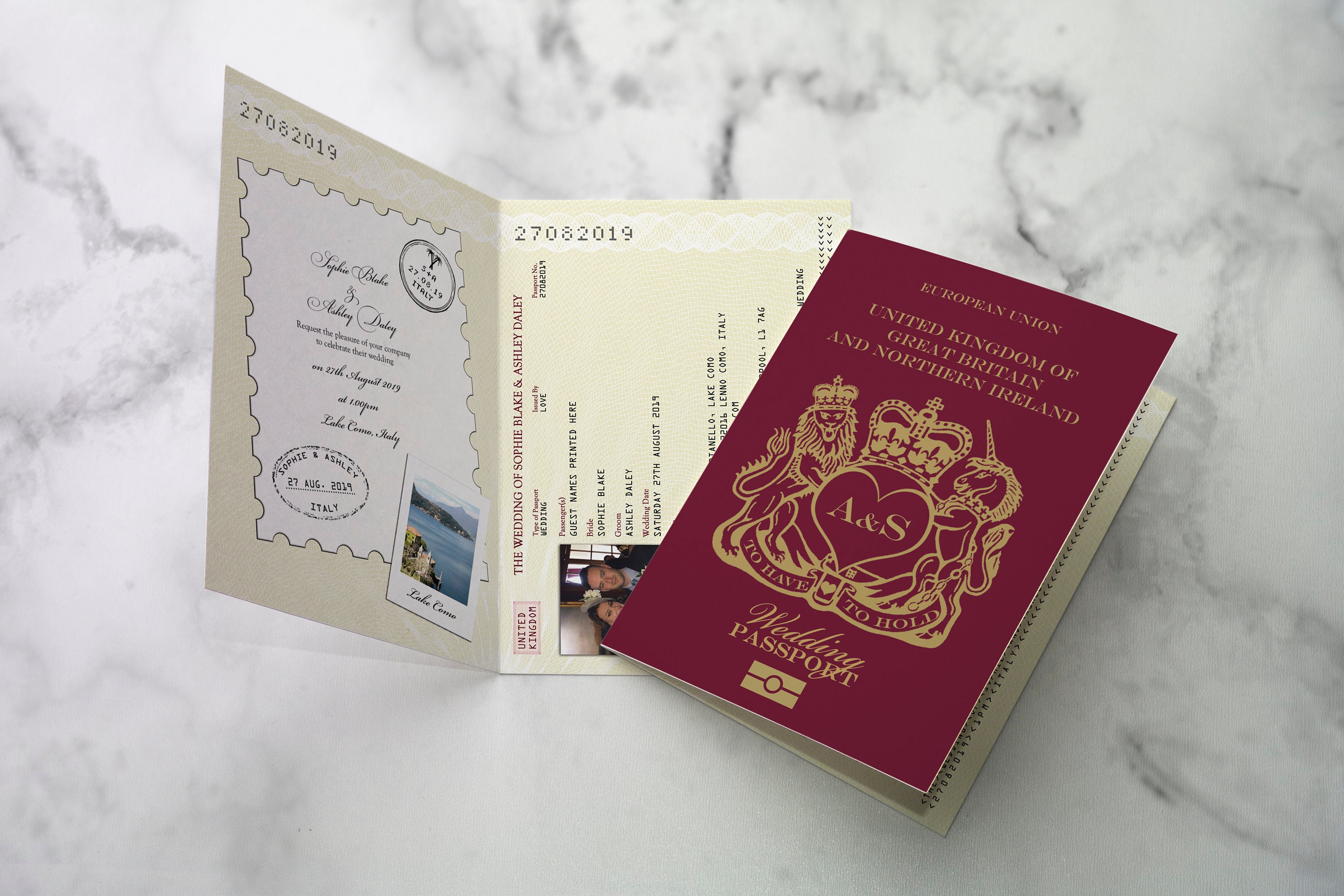 British Wedding Passport Invitation Great Britain UK Travel | Etsy