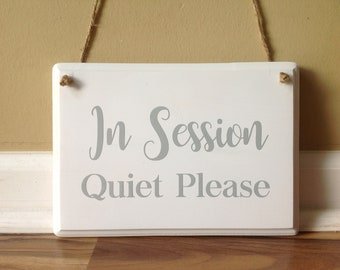 therapist door sign etsy