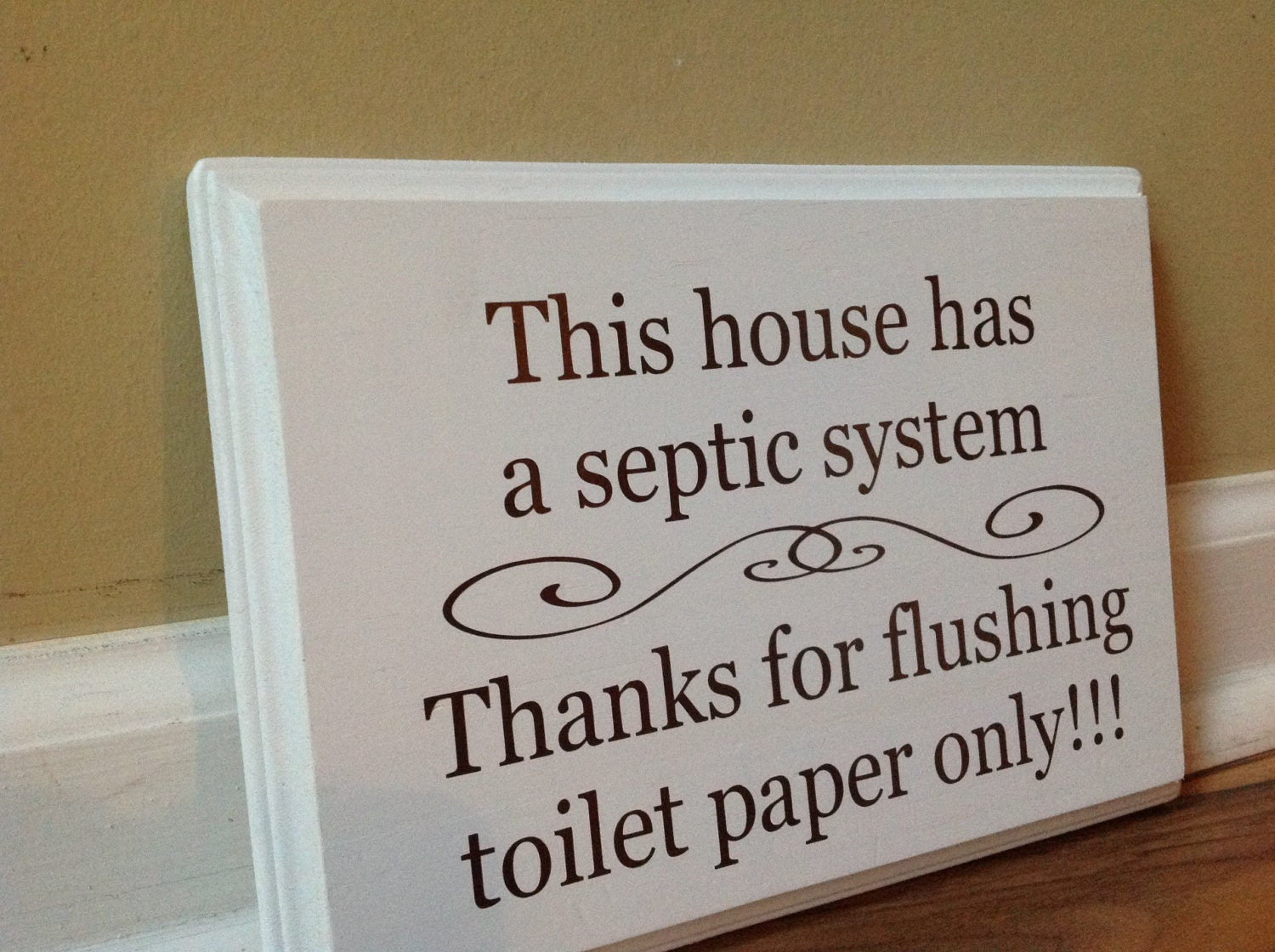 This house has a septic system Septic System Rules Wooden Sign Plaque Do  Not Flush Sign Bathroom Decor Funny Bathroom Do Not Dispose