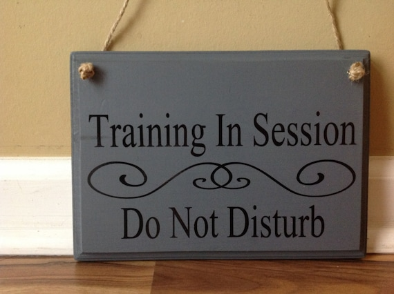 training in session workout do not disturb door hanger wood etsy