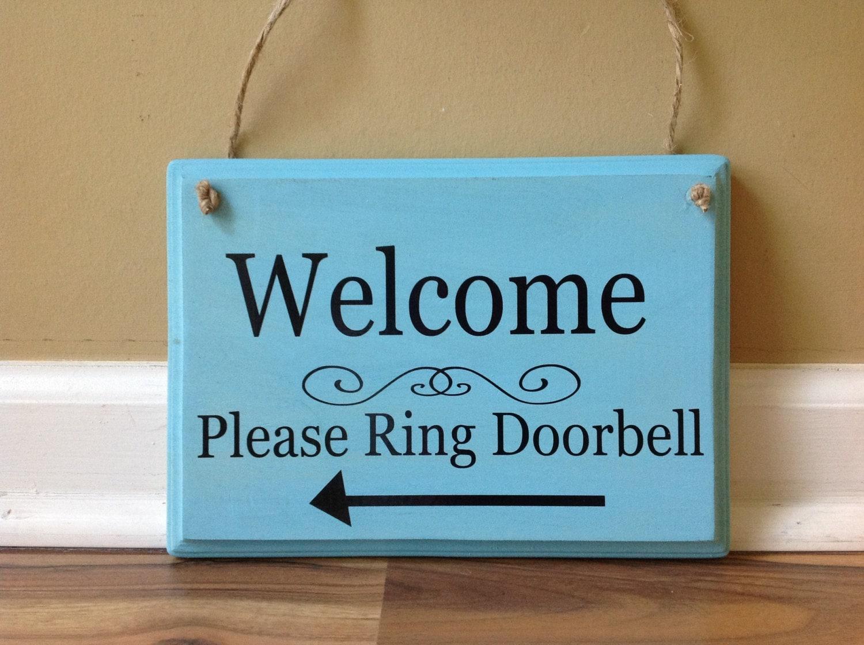 Ring doorbell sign