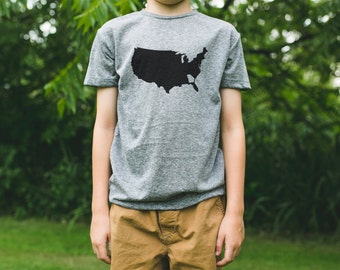 GEORGIA is a State, Kid's Tri-blend Tshirt / Youth. Children. / USA Made / Someone Apparel