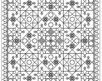 Moroccan Garden - embroidery pattern