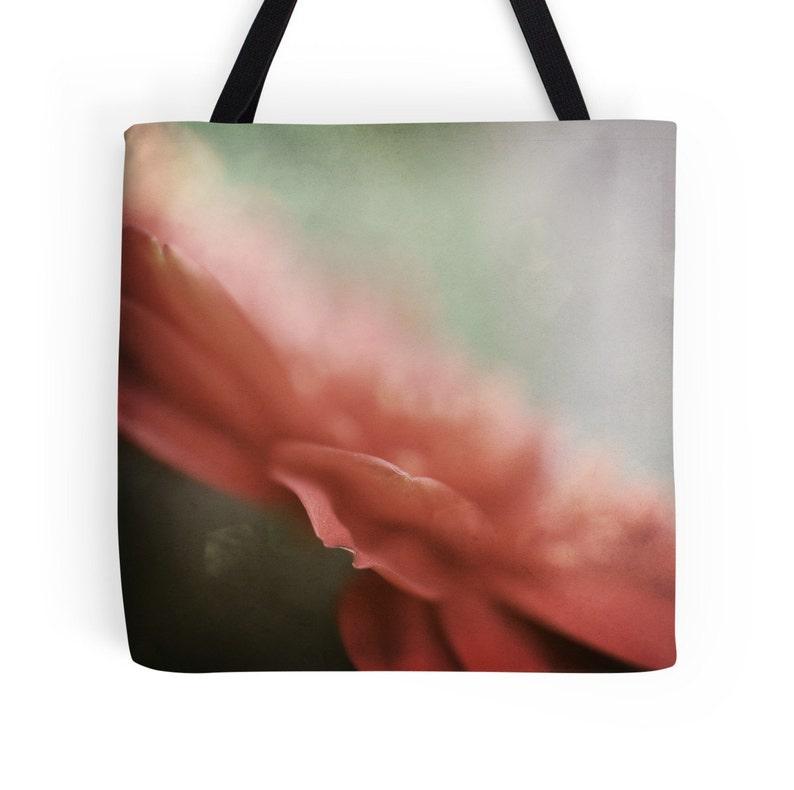 Fine Art TOTE BAG Reusable Tote Bag Coral Flower Canvas Bag Floral Canvas Shoulder Bag Pastel Pink Flower Tote Bag Pink Market bag
