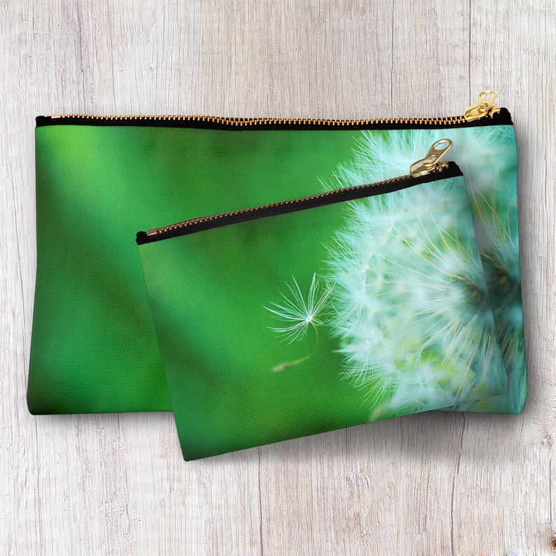871553729e5a Dandelion Puff Zipper pouch Travel Toiletry Bag Cosmetic Accessory Storage  Makeup Organizer Clutch Personalized Bridesmaid Best Friend gift