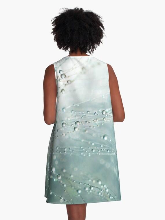 Cyan A Mini dress Clothing Dress Macro Blue Mini Line Dress Printed Wispy Skater A Line Blue Flare Dress Blue dress Dress Blue Photo w7fHqPv