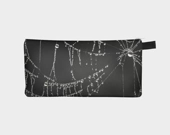Spider Web Pencil Case, Black Pouch, Pencil Pouch, Make Up Bag, Gothic Pouch, Small Bag, Zipper Pouch, pencil bag, Cosmetic Bag, Small Pouch