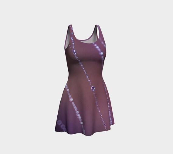 Purple Flare Dress