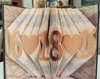 Folded Book Art Custom Date Personalized Anniversary Gift For Her Special Occasion Gift First Anniversary Retirement Birthday Special Day