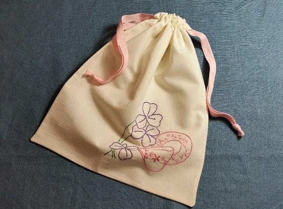 Farine brodé Vintage sac serviette sac Tote Bag