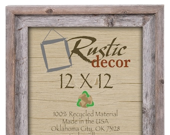 "12x12 -2"" wide Rustic Barn Wood Signature WallFrame"