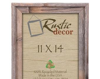 "11x14-2"" wide Rustic Barn Wood Signature Wall Frame"