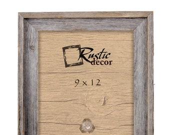 "9x12-2"" wide Rustic Barn Wood Signature Wall Frame"