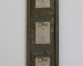 Triple Picture Frame Etsy