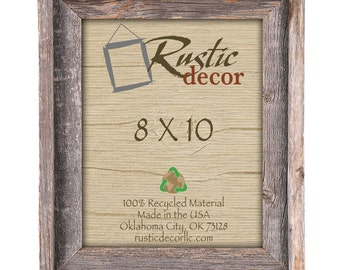 8x10 Rustic Frame Etsy