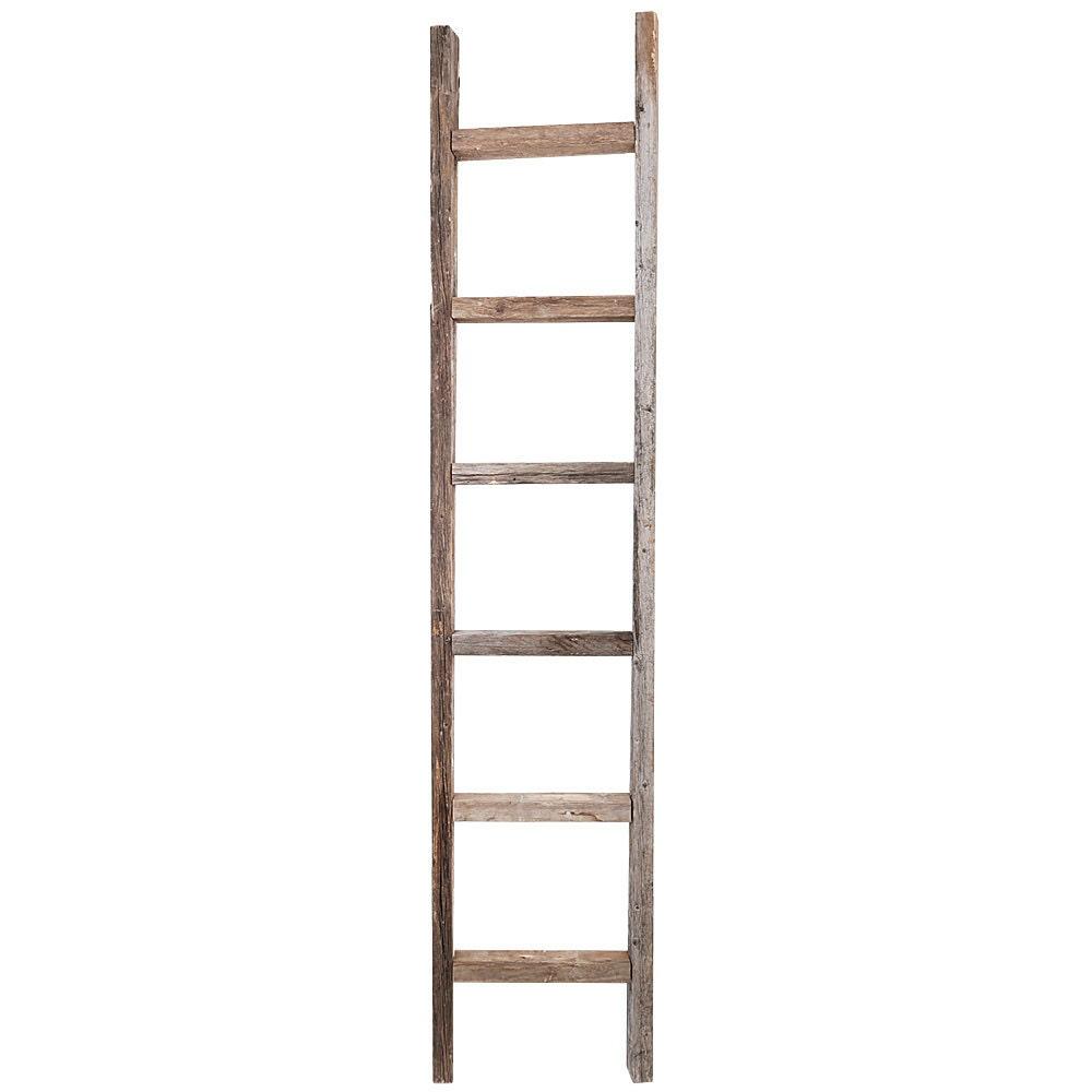 Decorative Ladder Reclaimed Old Wooden Ladder 6 Foot