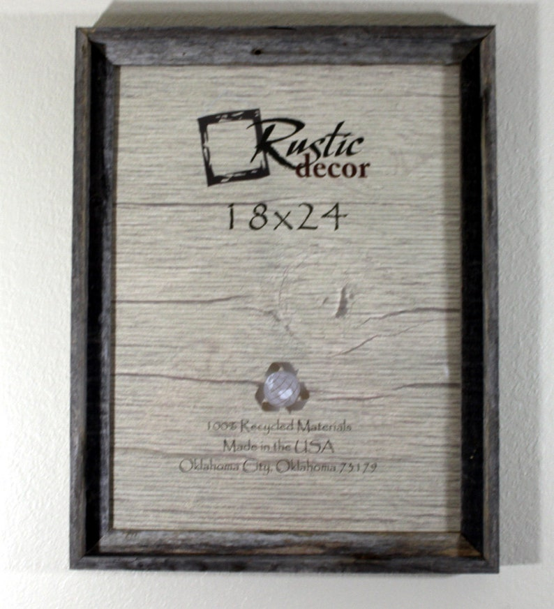 18x24-2 wide Rustic Barn Wood Signature Wall Frame image 0