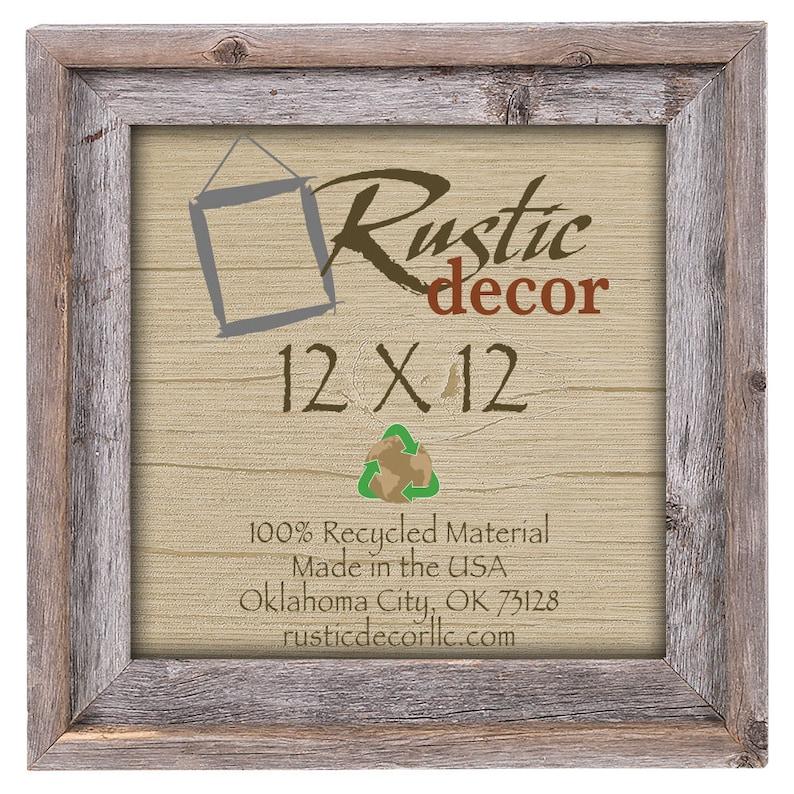 12x12 2 wide Rustic Barn Wood Signature WallFrame image 0