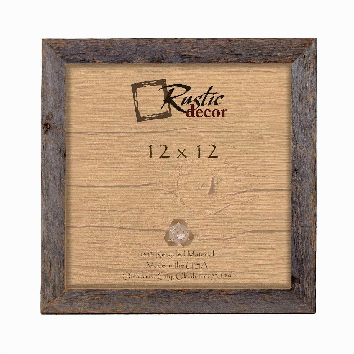 12x12 1.5 wide Rustic Barn Wood Standard Wall Frame | Etsy
