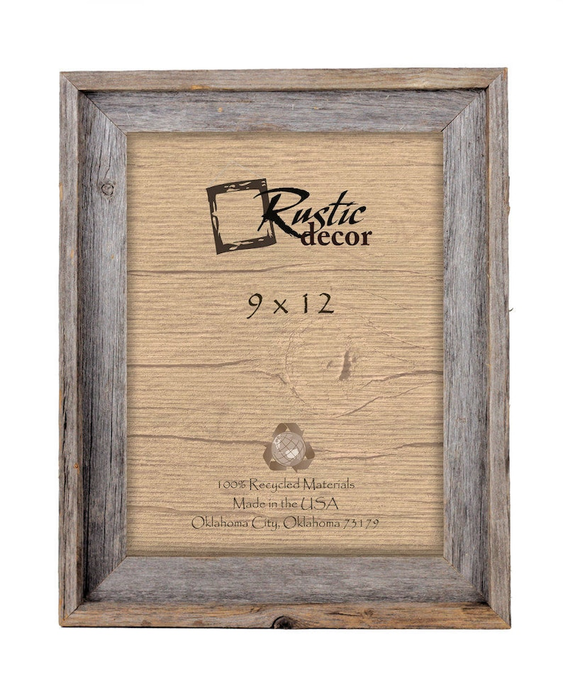 9x12-2 wide Rustic Barn Wood Signature Wall Frame image 0