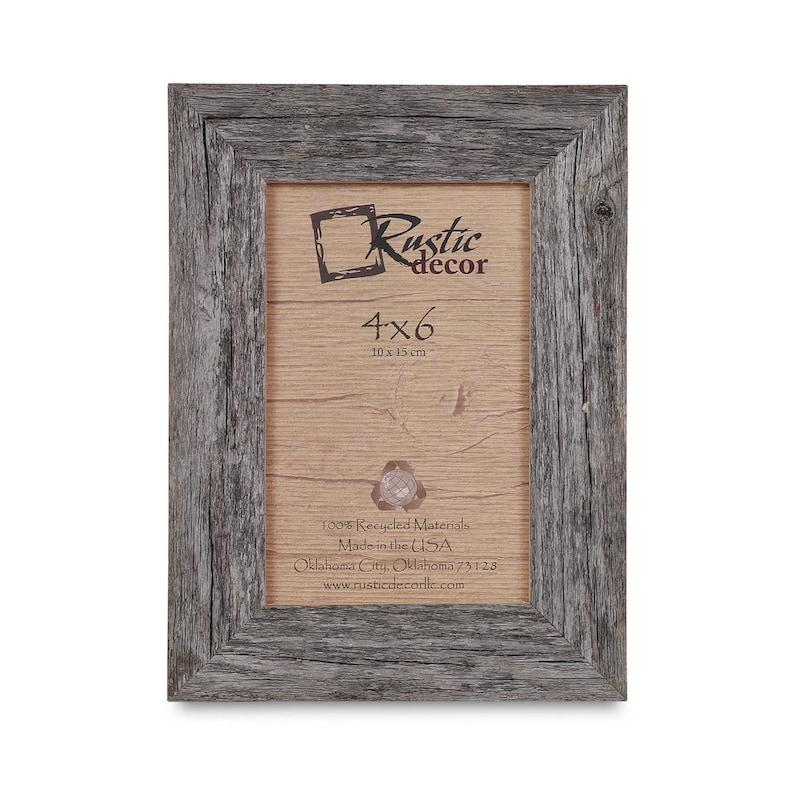 4x6-1.5 wide Rustic Barn Wood Standard Photo Frame image 0