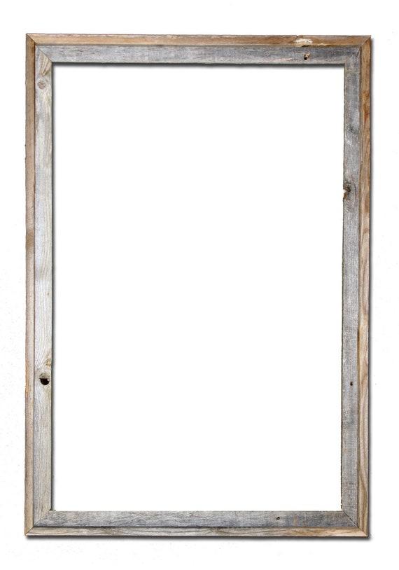 18x24 2 wide Barnwood Reclaimed Wood Open Frame No | Etsy