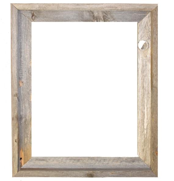 16x20 2 wide Barnwood Reclaimed Wood Open Frame No | Etsy