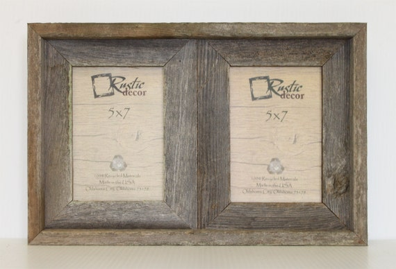 5x7 2 Wide Rustic Barn Wood Double Opening Frame Etsy
