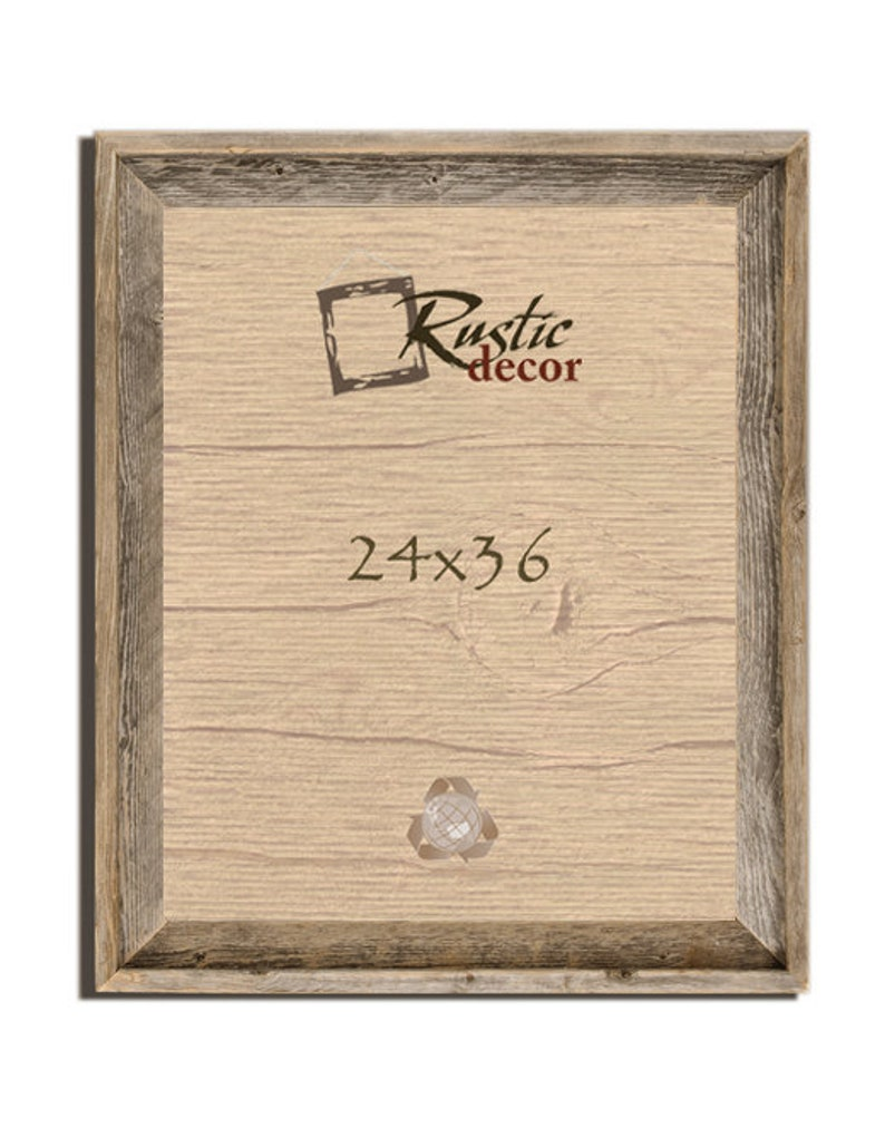 24x36-2 wide Rustic Barn Wood Signature Wall Frame image 0