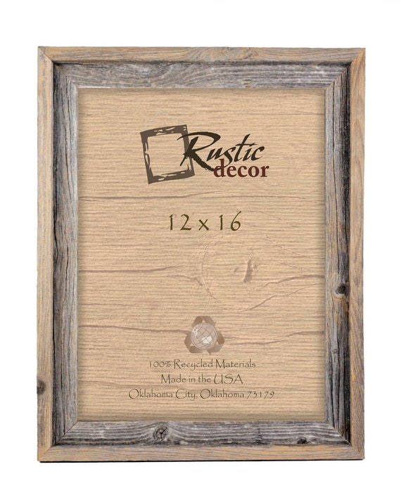 """8x10-2/"""" Wide Signature Reclaimed Rustic Barn Wood Picture Frame"""