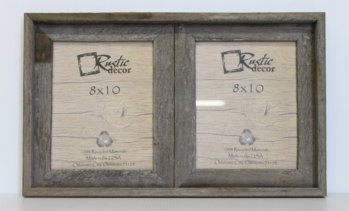 8x10 2 wide Rustic Barn Wood Double Opening Frame | Etsy