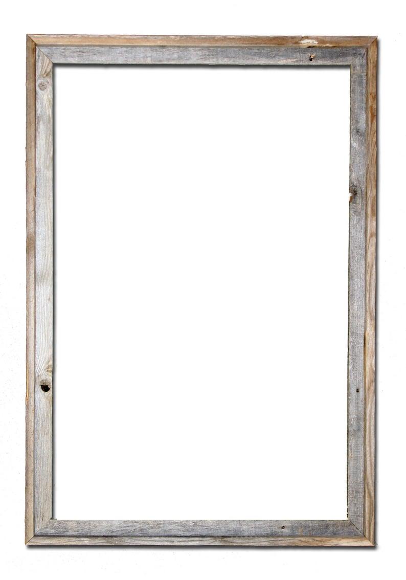 24x36 2 wide Barnwood Reclaimed Wood Open Frame No image 0