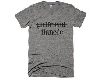 71db0015 Girlfriend to Fiancee Shirt-Engagement Shirt- girlfriend fiance shirt- Wedding  Shirt-Engagement Shirt