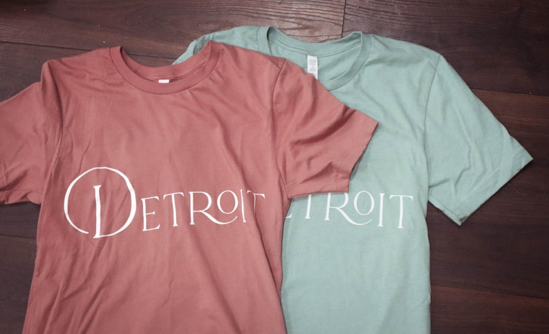 Detroit Michigan T-Shirt/ Michigan T-Shirt / Womens minimalist image 0
