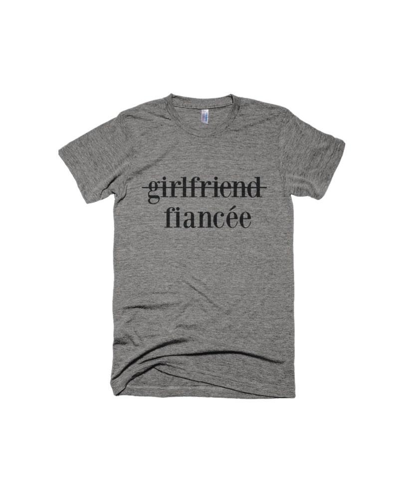 Girlfriend to Fiancee Shirt-Engagement Shirt girlfriend image 0